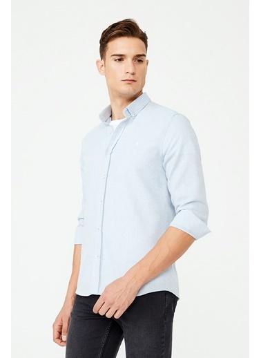 Avva Erkek  Flanel Düğmeli Yaka Gömlek E002001.78 Mavi